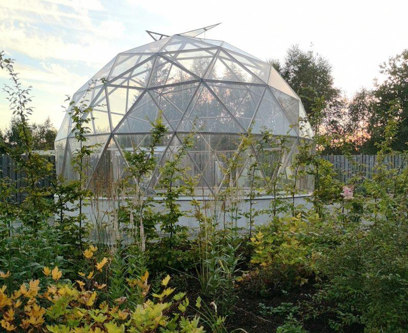 Biodome i Chakraträdgården